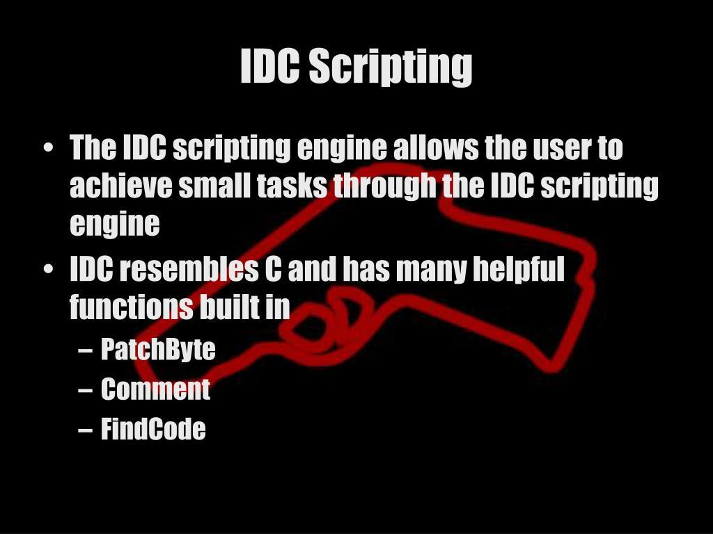 IDC Scripting
