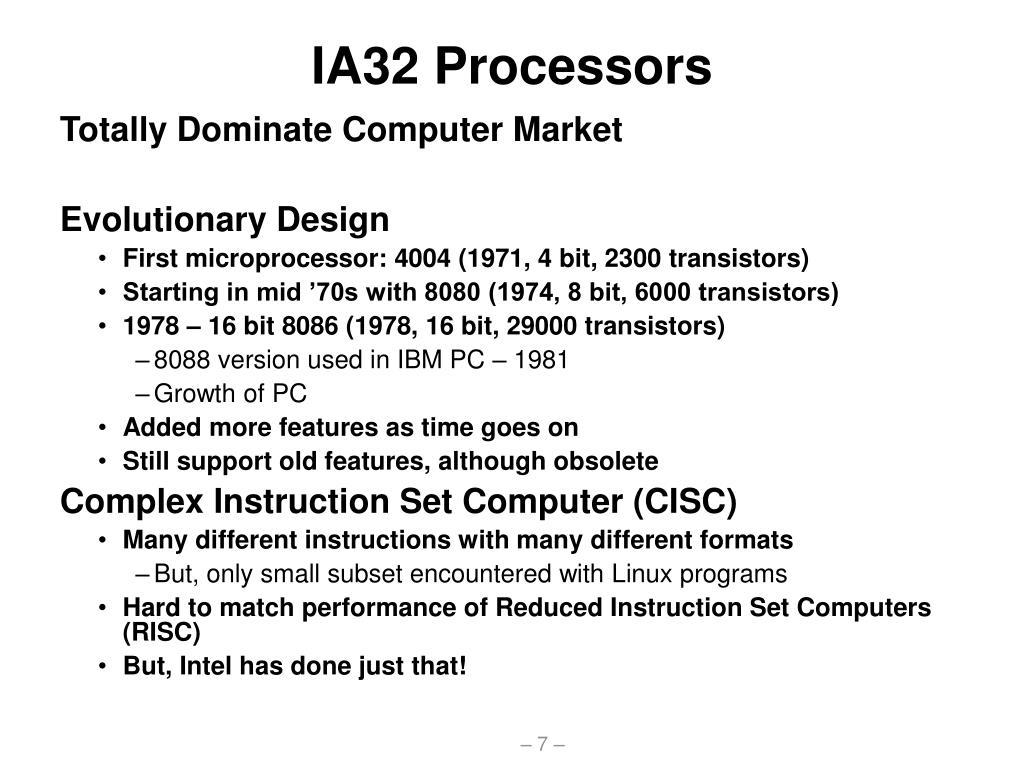 IA32 Processors