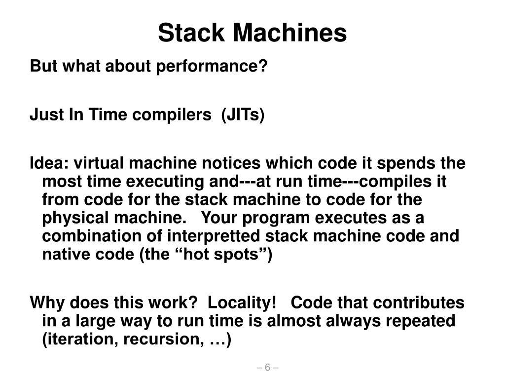 Stack Machines