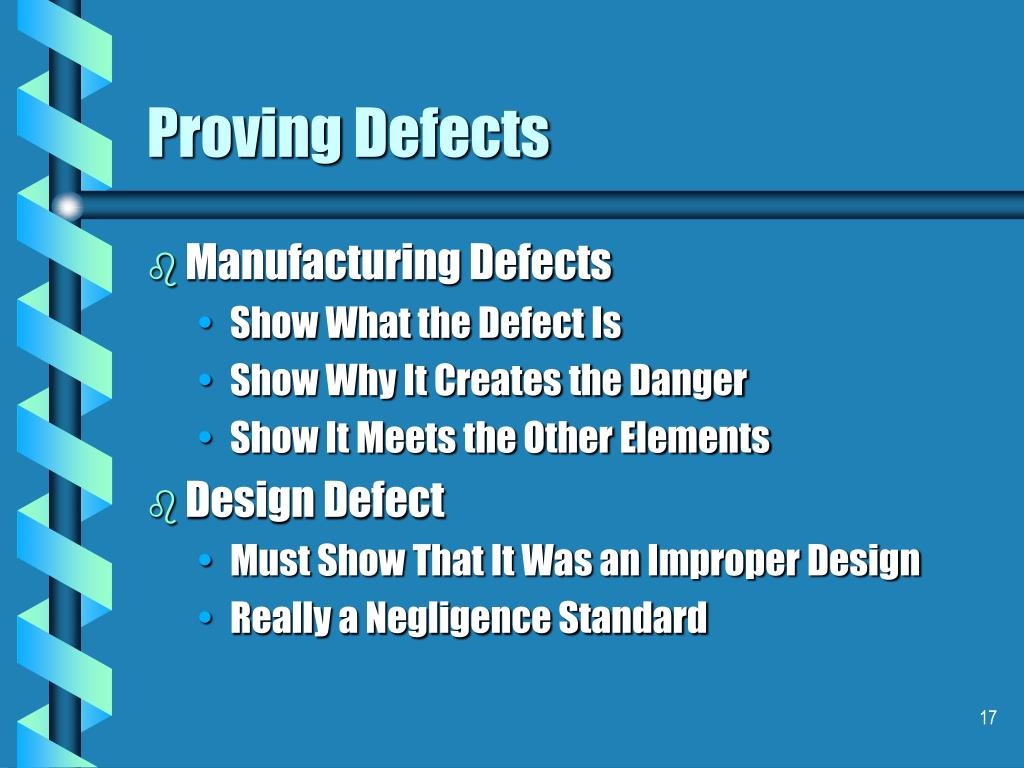 Proving Defects