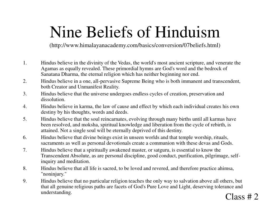 Nine Beliefs of Hinduism