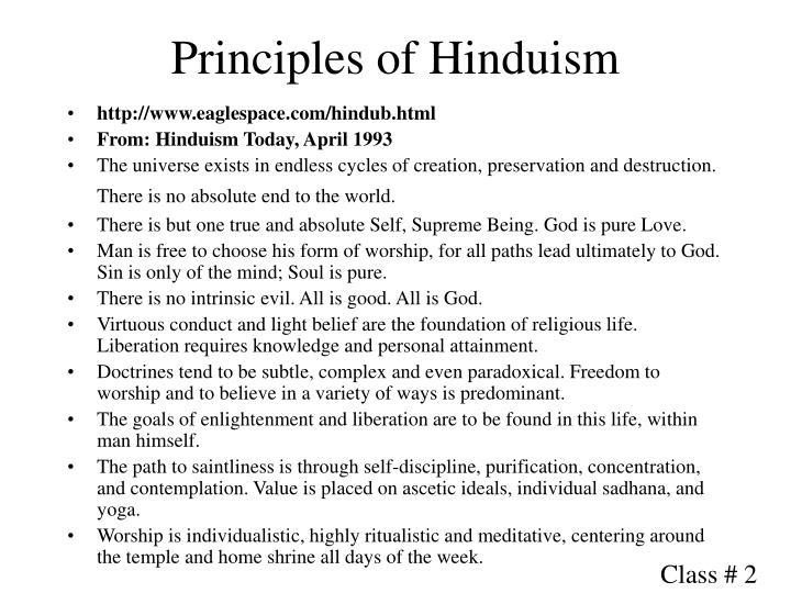 Principles of hinduism