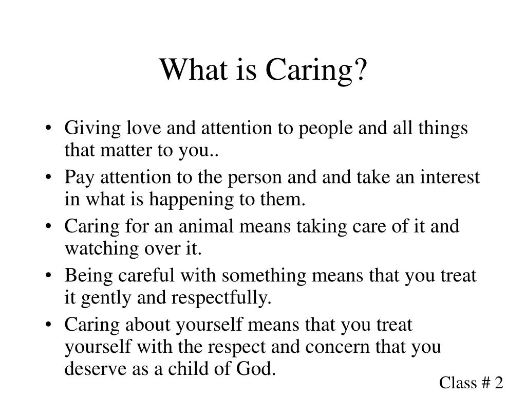 What is Caring?