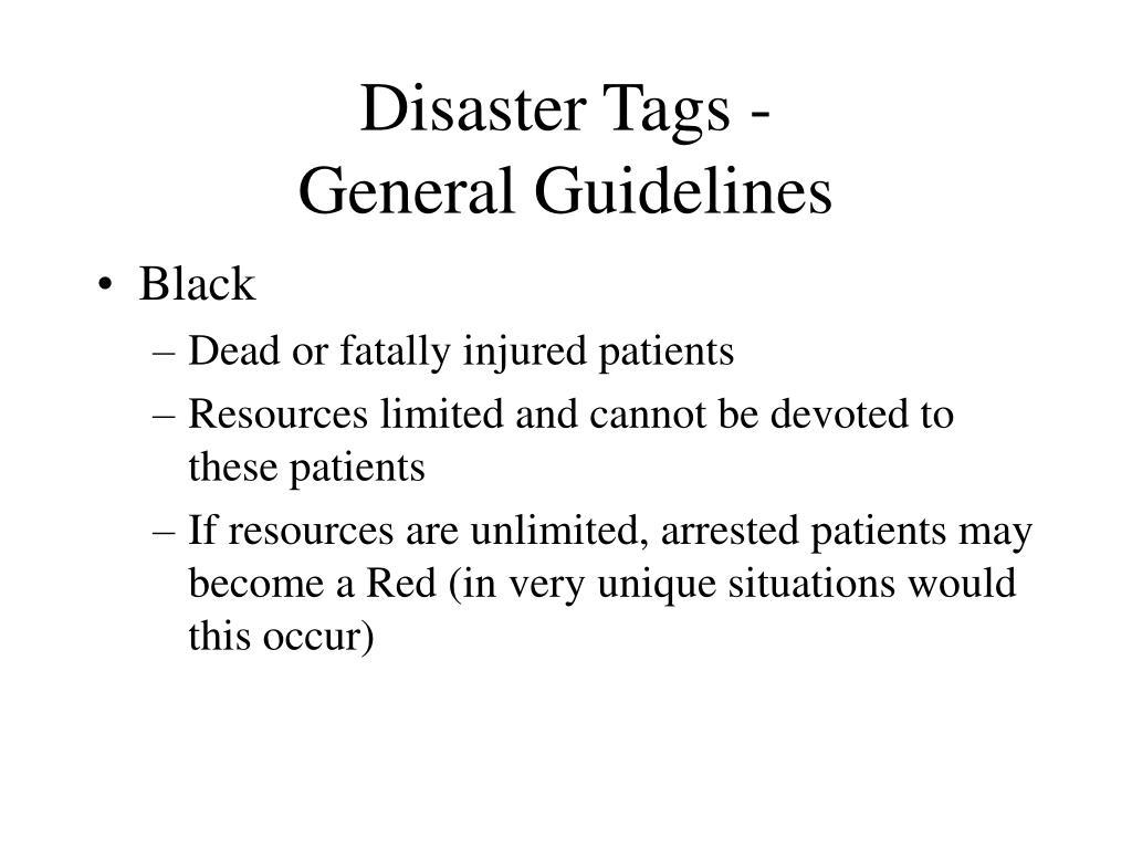 Disaster Tags -