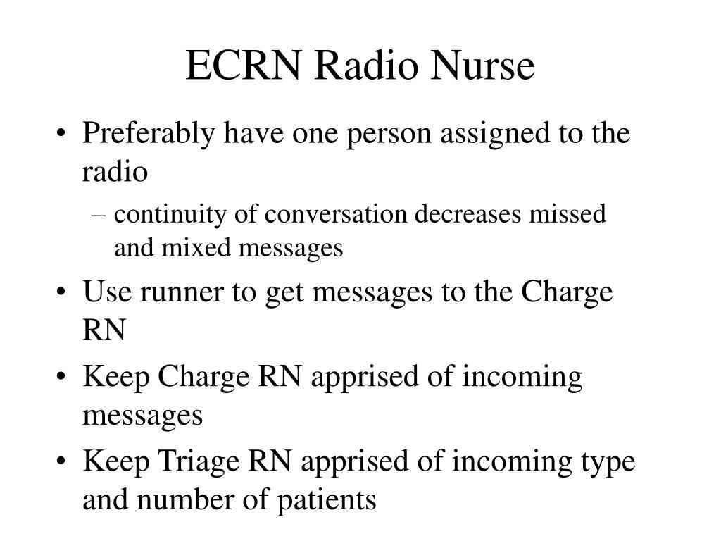 ECRN Radio Nurse