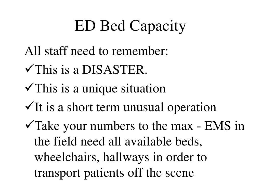 ED Bed Capacity