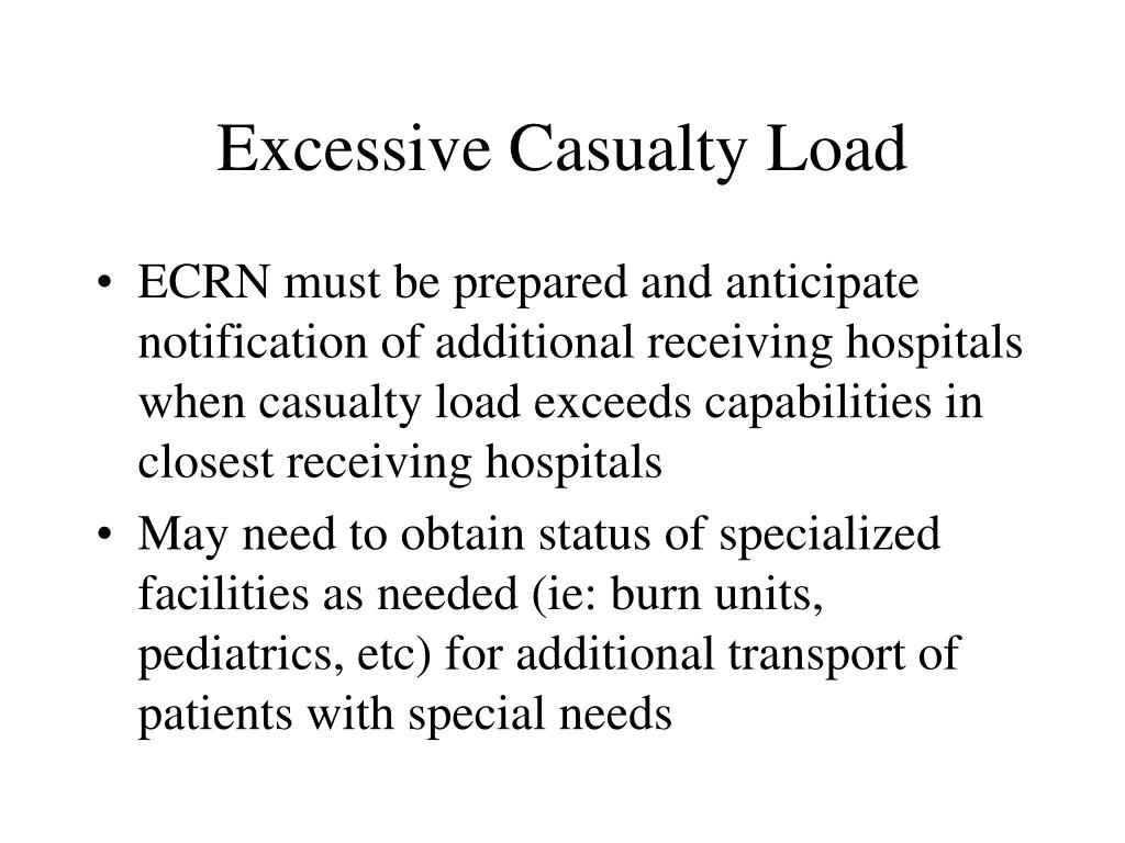 Excessive Casualty Load