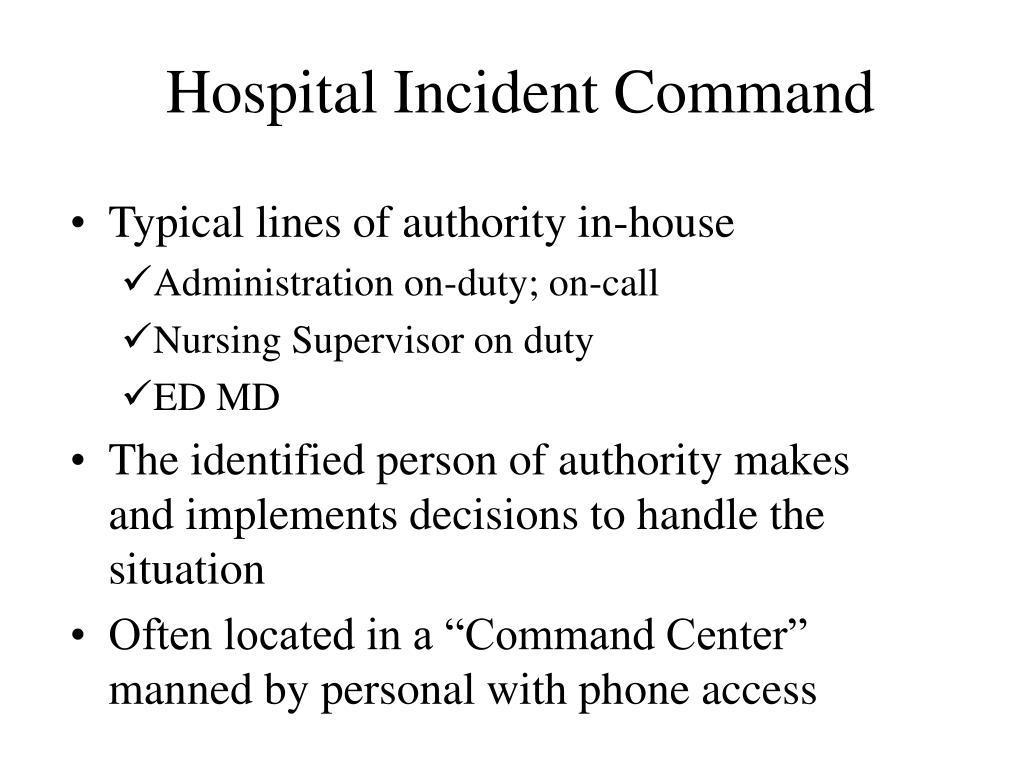 Hospital Incident Command