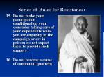 series of rules for resistance15