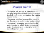 disaster waiver1