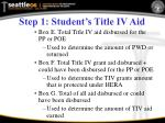 step 1 student s title iv aid1