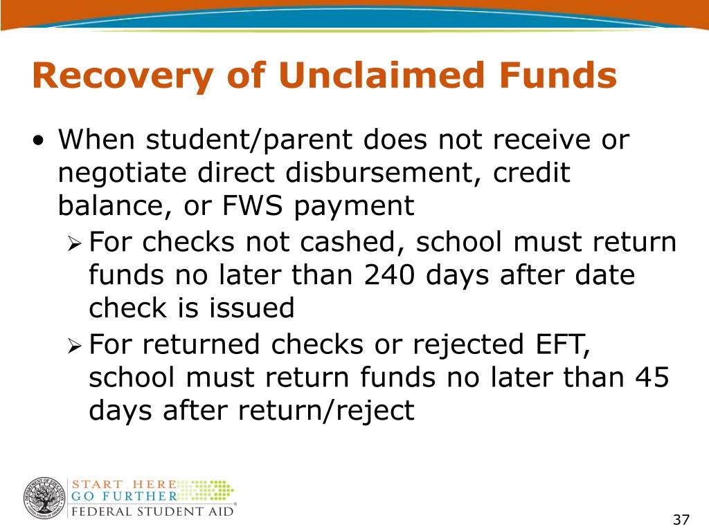 Recovery of Unclaimed Funds