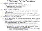 3 phases of gastric secretion