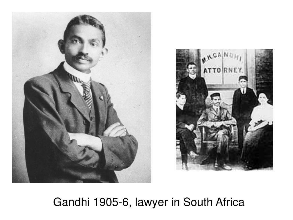 Gandhi 1905-6, lawyer in South Africa