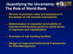 quantifying the uncertainty the role of world bank15