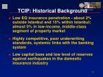 tcip historical background