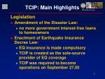 tcip main highlights