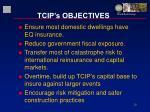 tcip s objectives