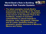 world bank s role in building national risk transfer systems13
