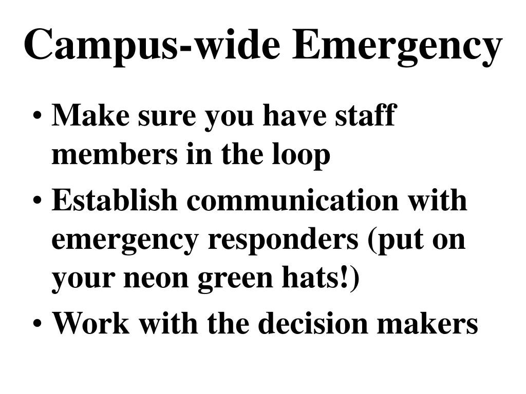Campus-wide Emergency