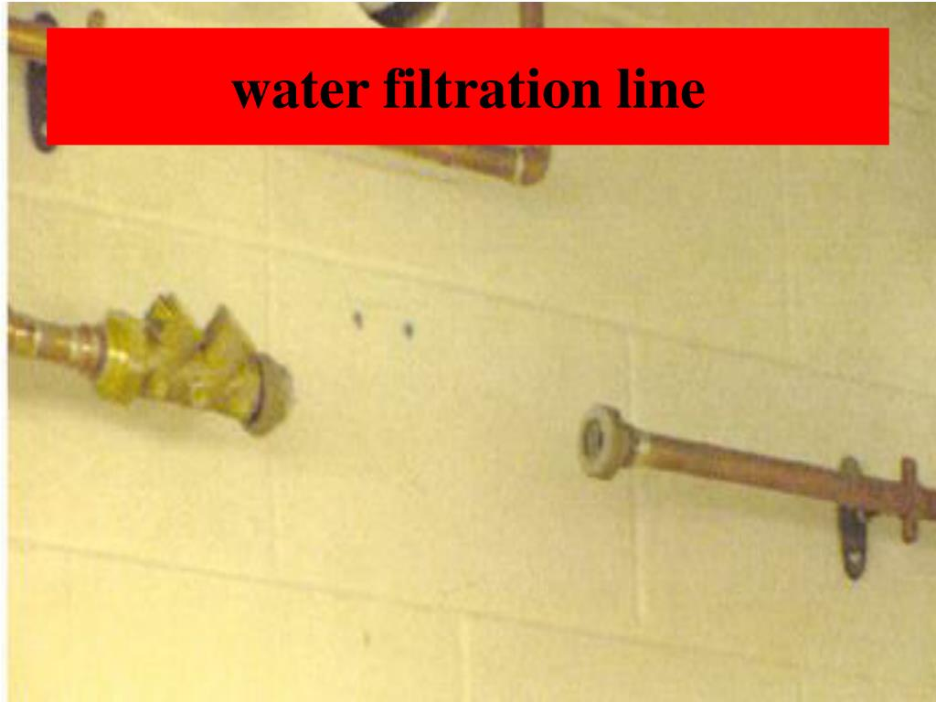 water filtration line