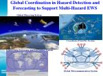 global coordination in hazard detection and forecasting to support multi hazard ews