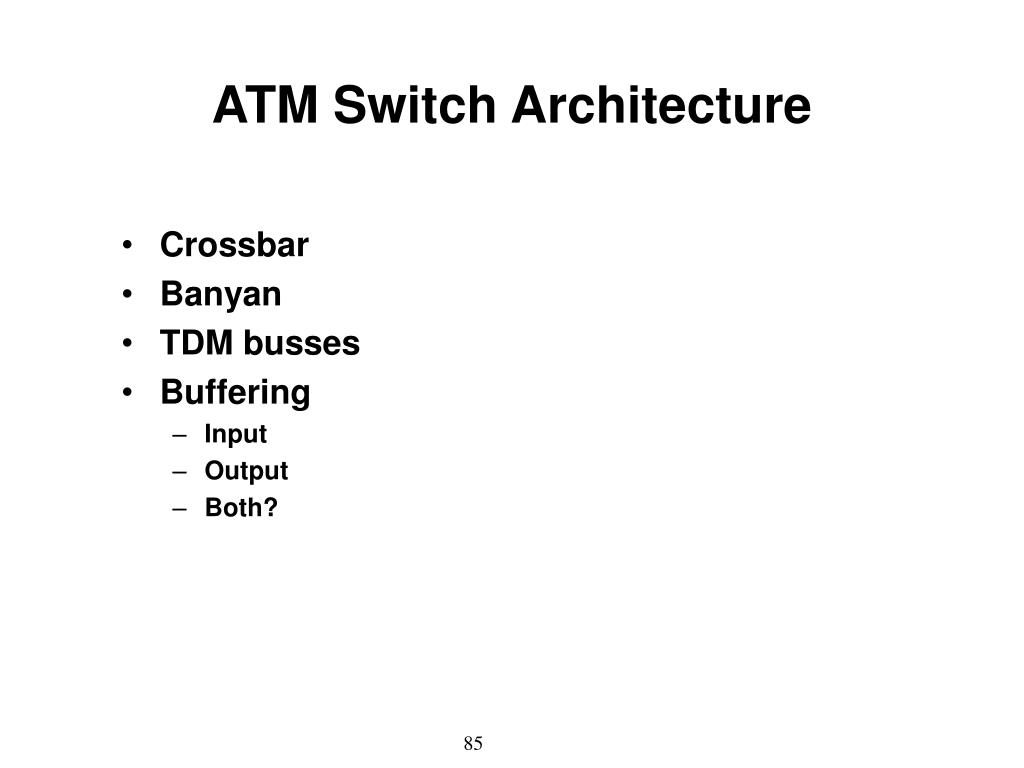 ATM Switch Architecture