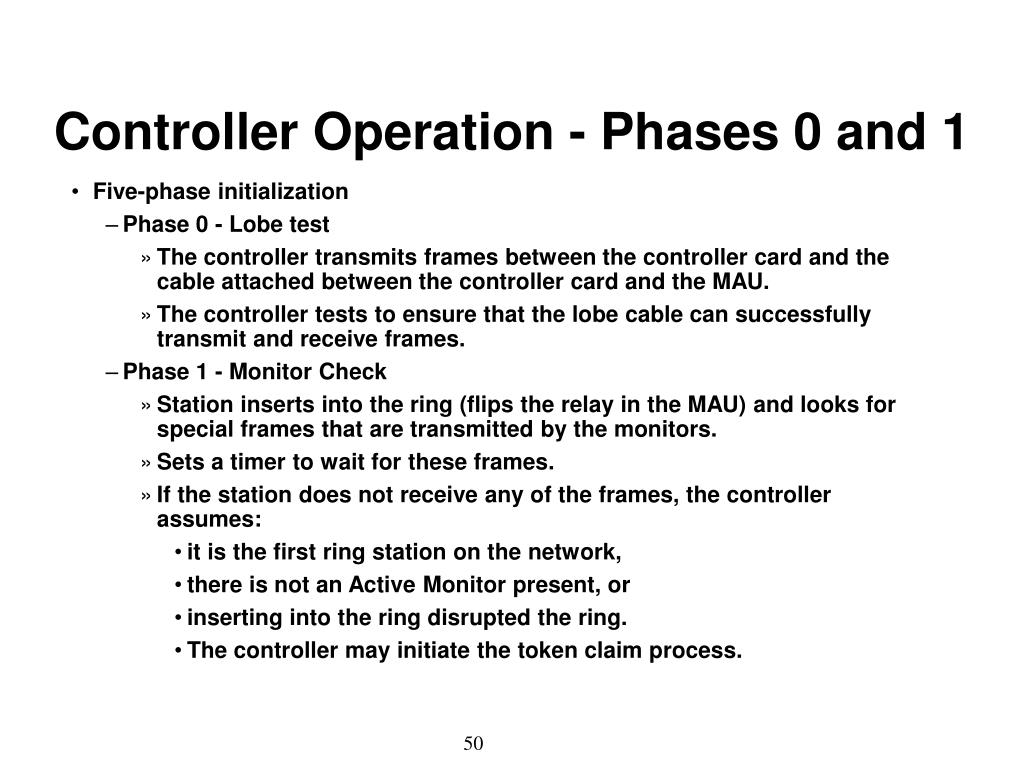 Controller Operation - Phases 0 and 1