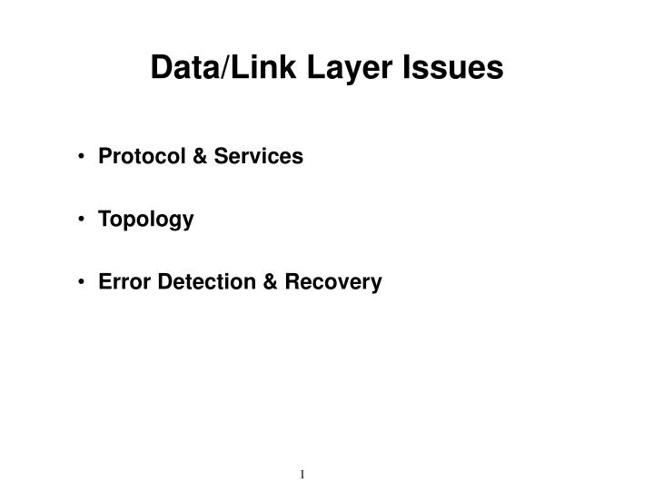 data link layer issues n.