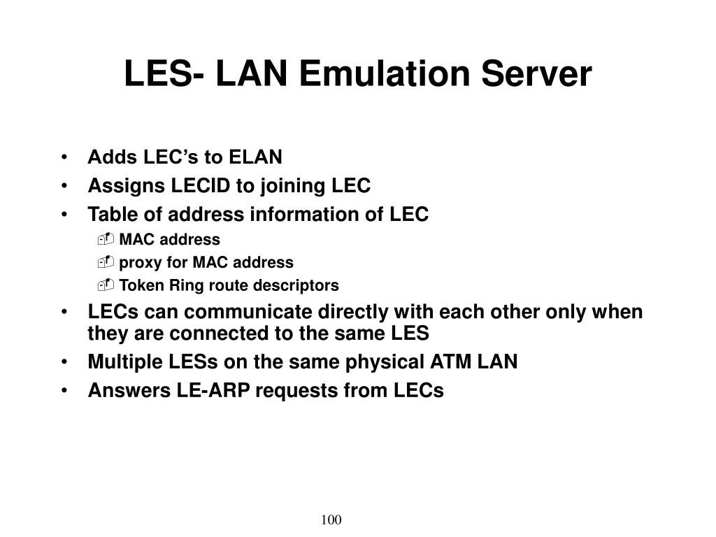 LES- LAN Emulation Server