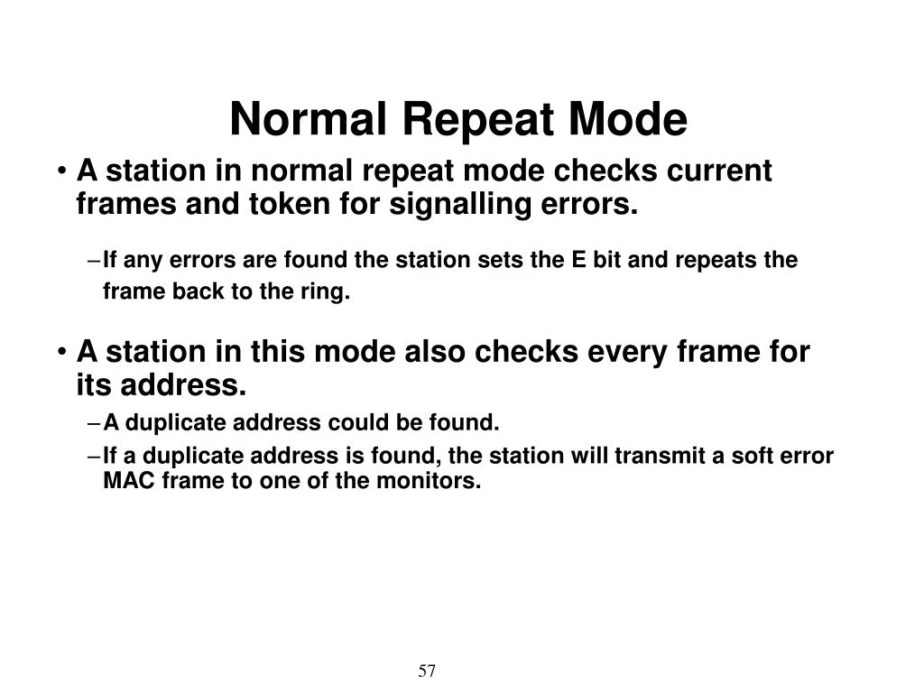 Normal Repeat Mode