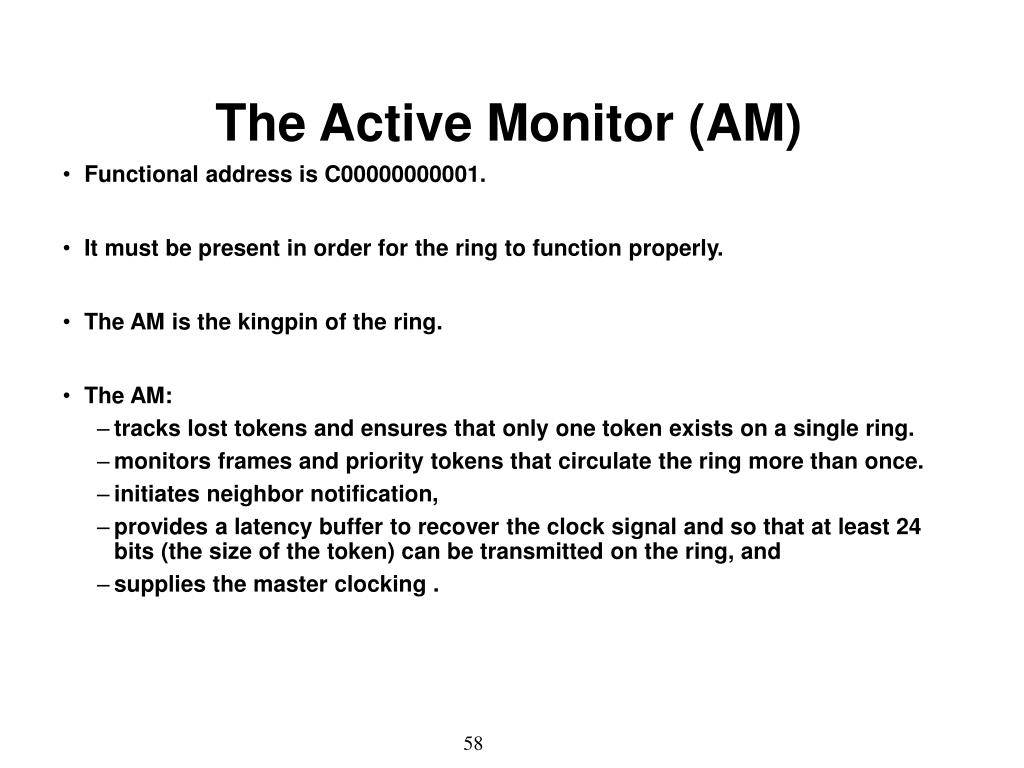 The Active Monitor (AM)