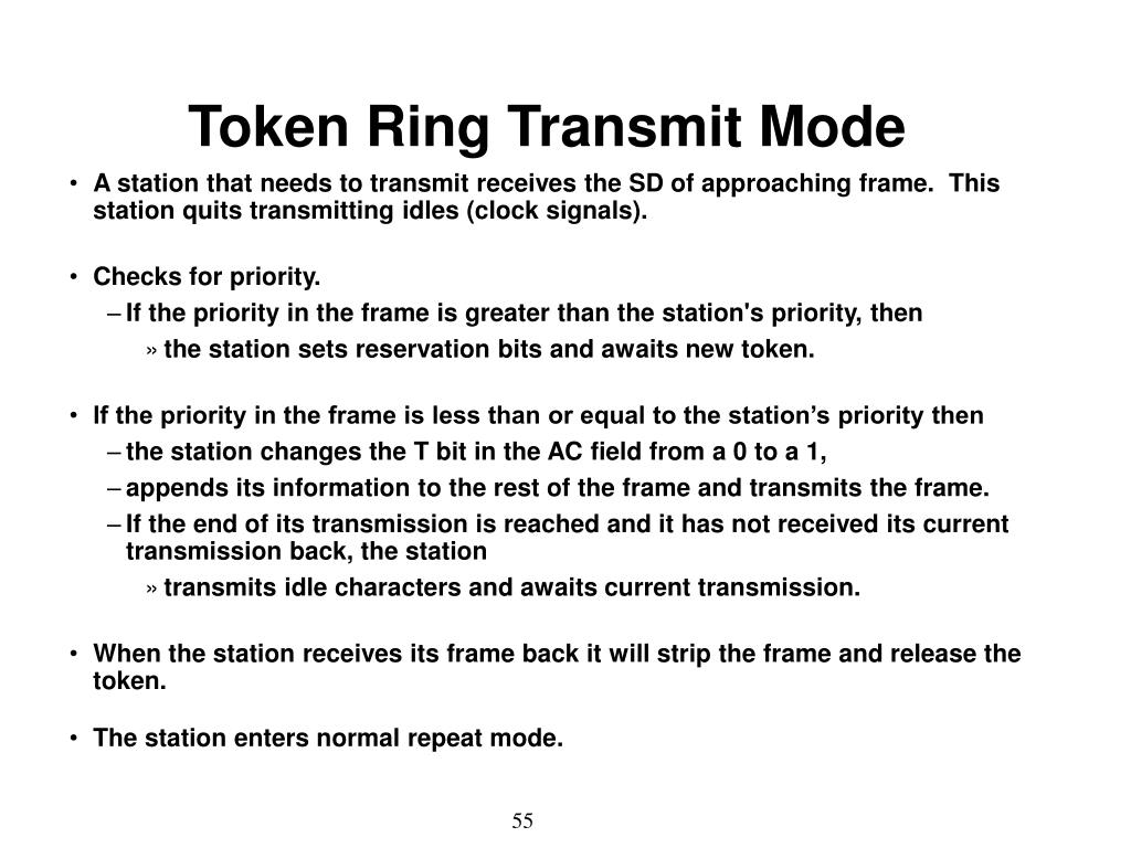 Token Ring Transmit Mode