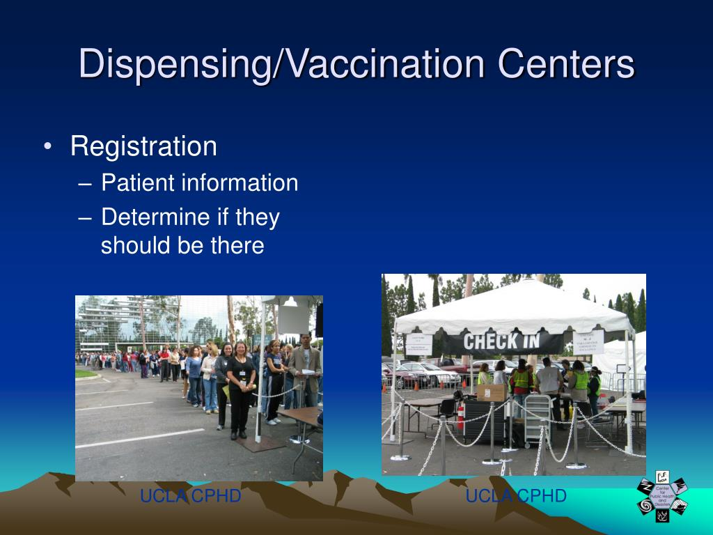 Dispensing/Vaccination Centers