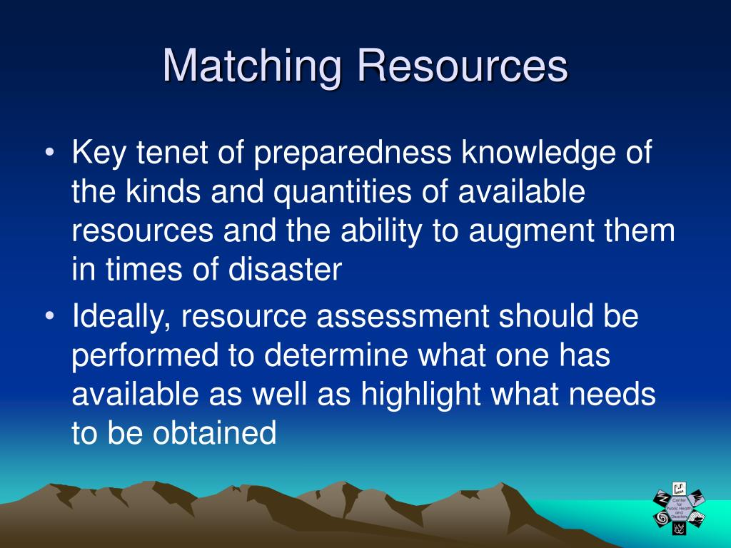 Matching Resources