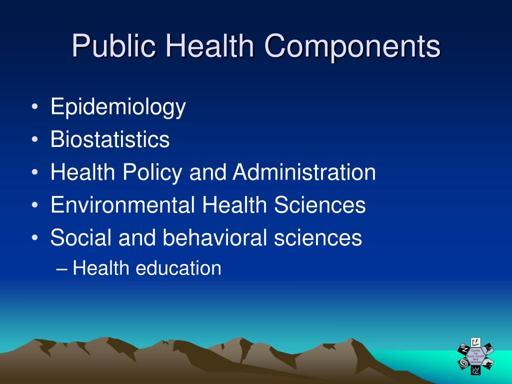 Public Health Components