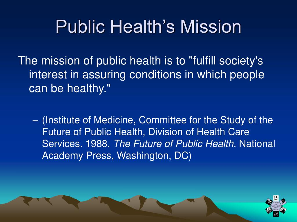 Public Health's Mission