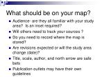 what should be on your map