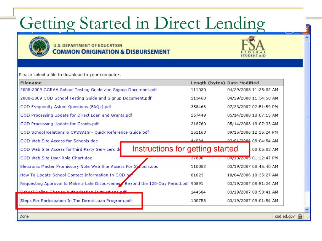 Getting Started in Direct Lending