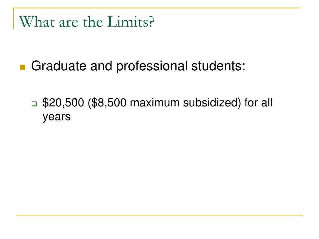 What are the Limits?