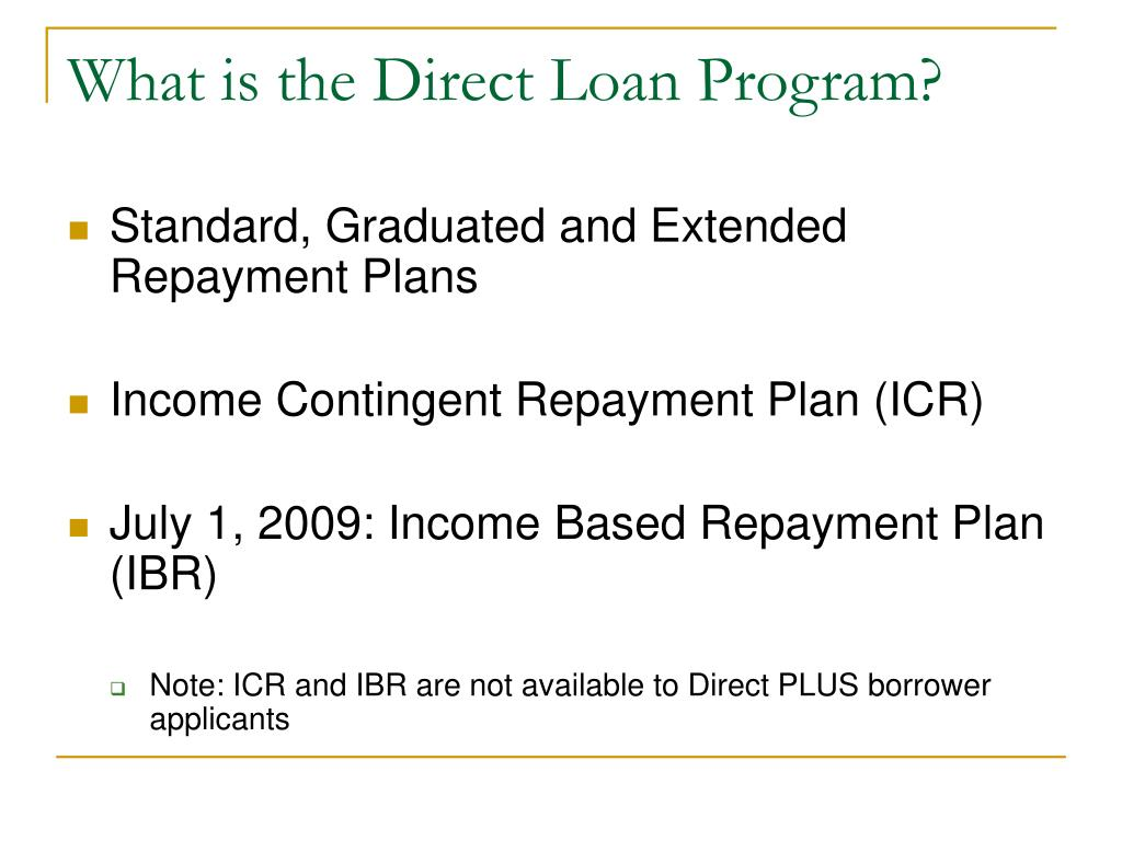 What is the Direct Loan Program?