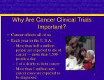 why are cancer clinical trials important