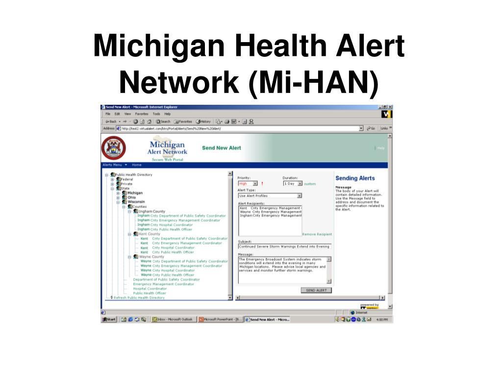 Michigan Health Alert Network (Mi-HAN)
