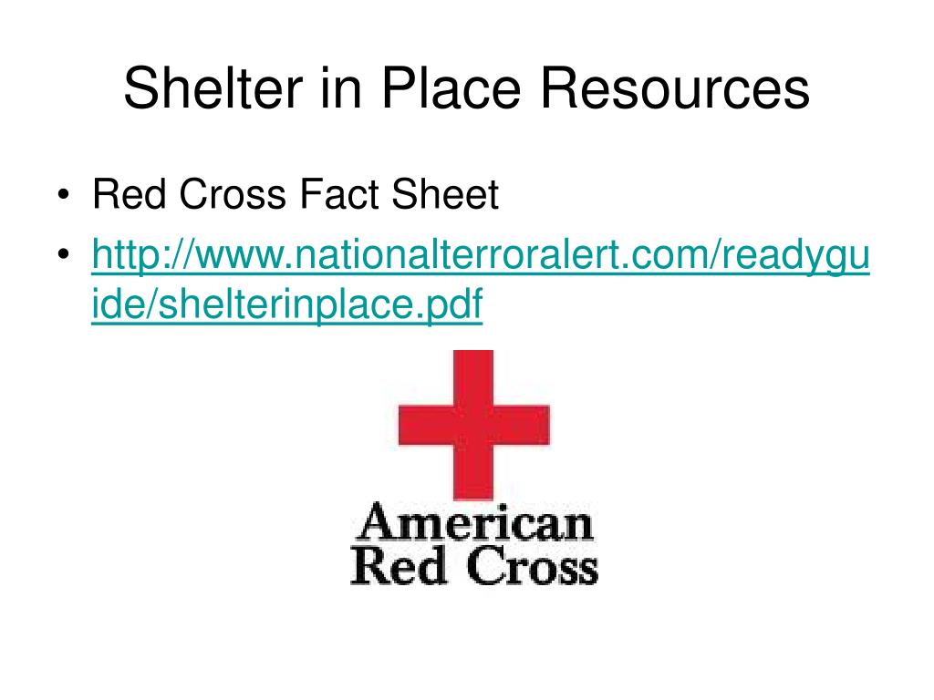 Shelter in Place Resources
