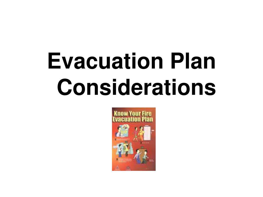 Evacuation Plan Considerations