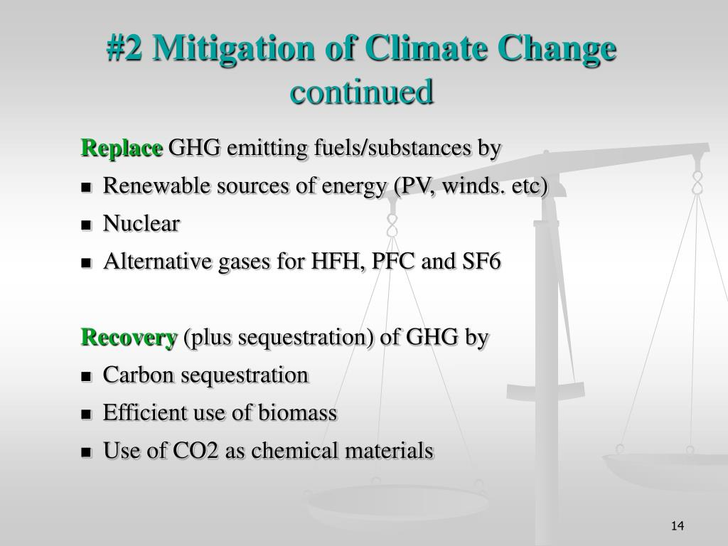 #2 Mitigation of Climate Change