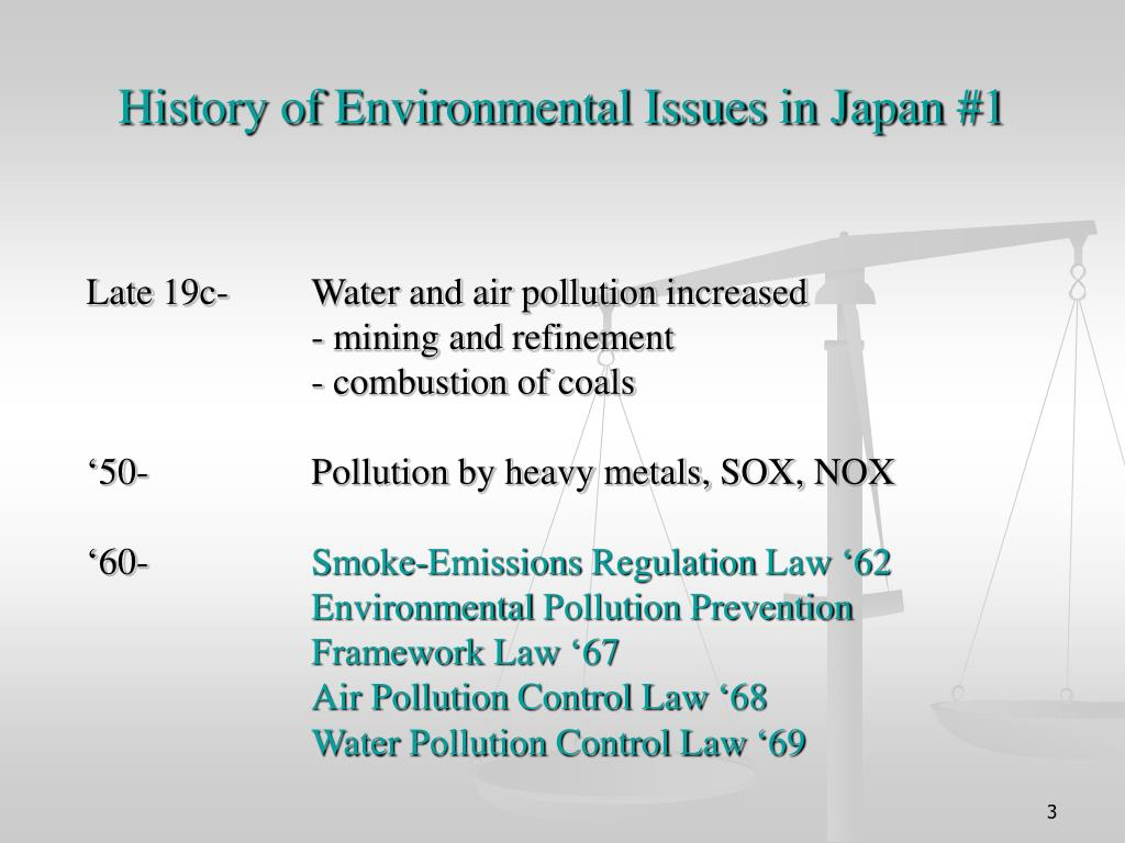 History of Environmental Issues in Japan #1