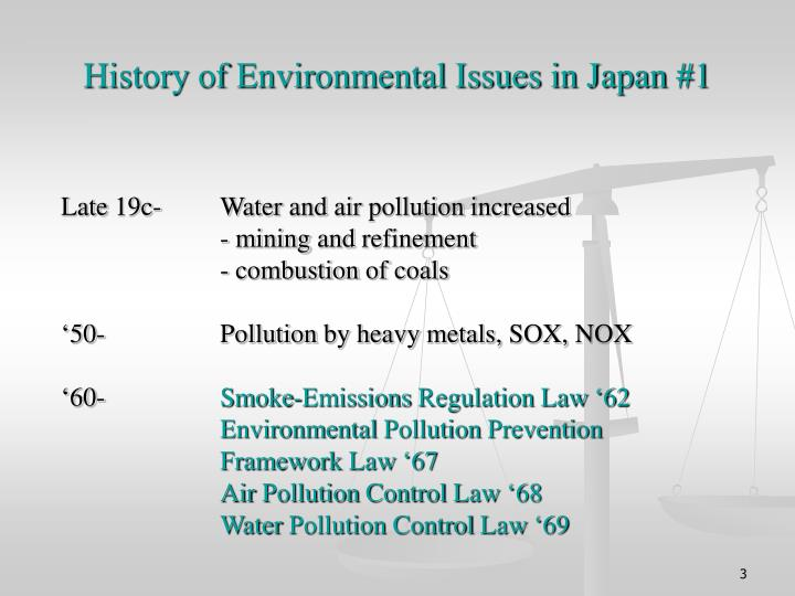 History of environmental issues in japan 1