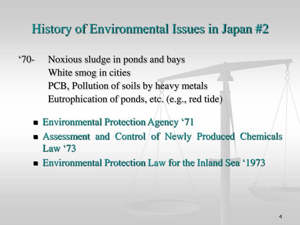 History of Environmental Issues in Japan #2