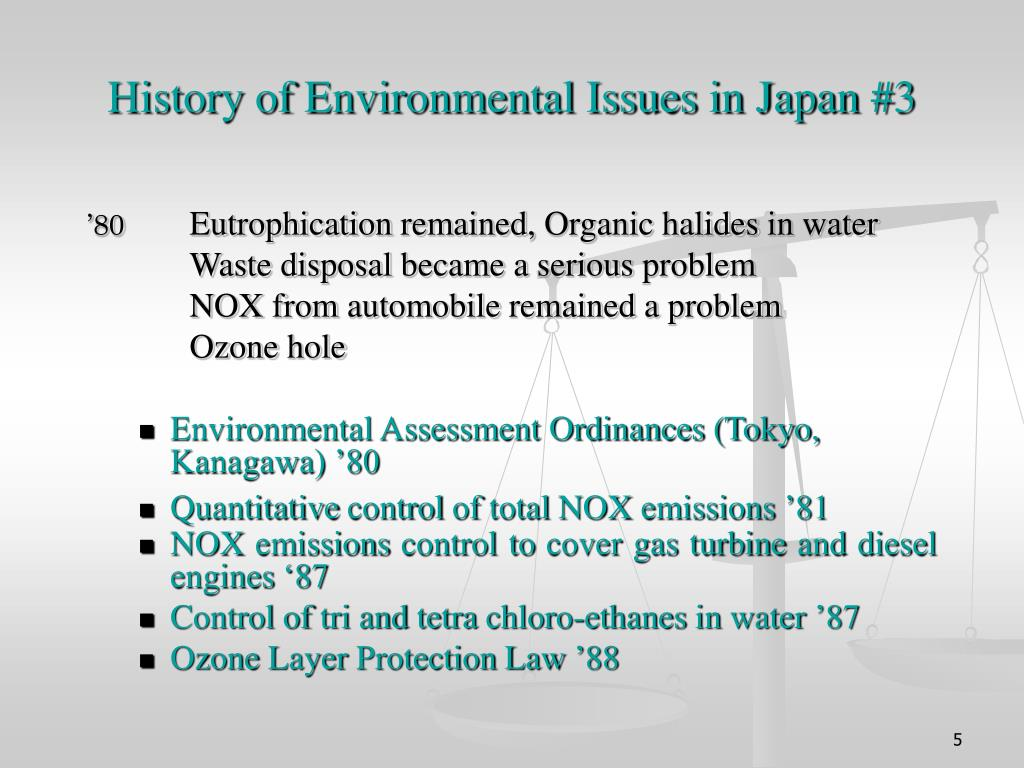 History of Environmental Issues in Japan #3